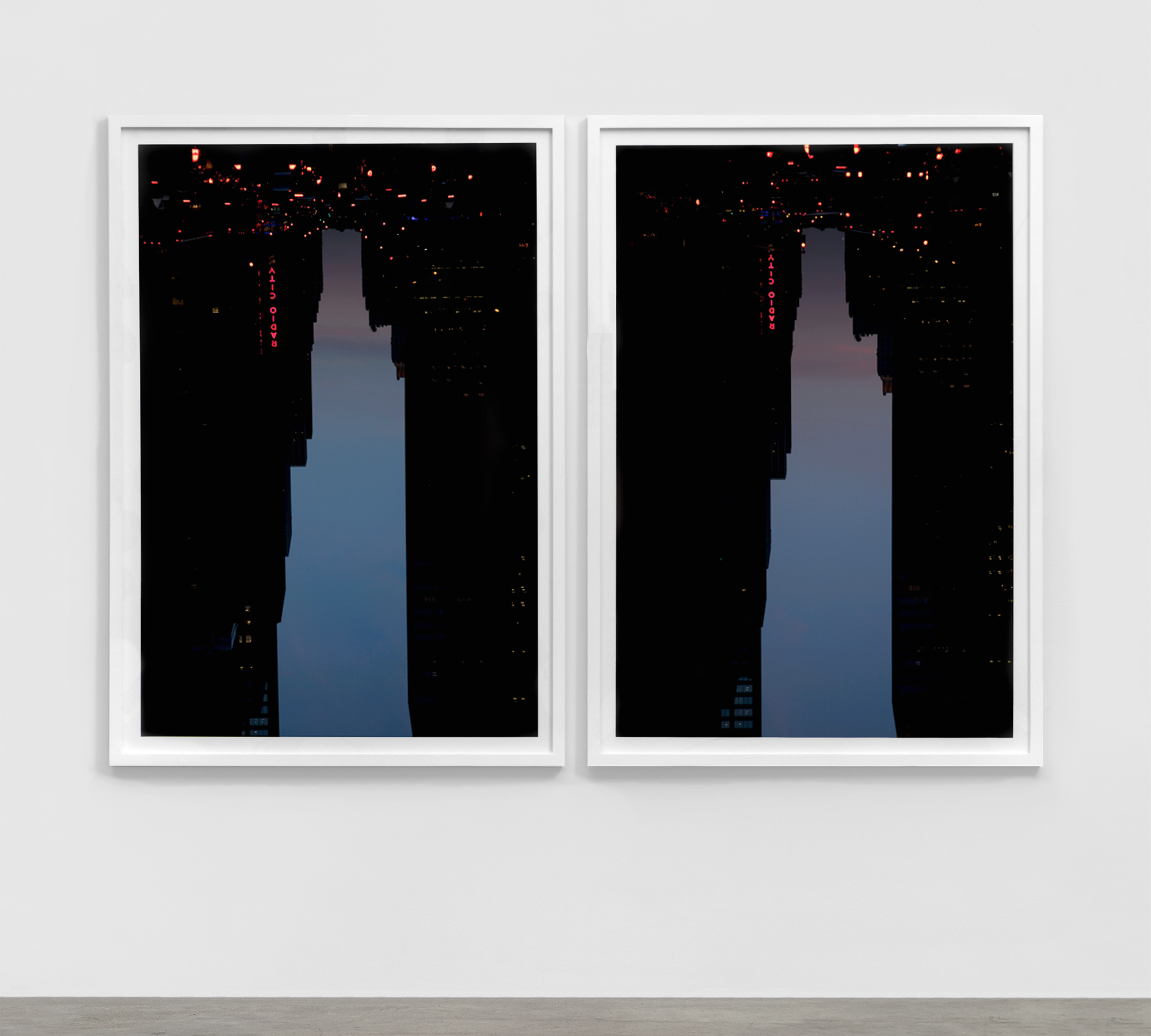 BUILDINGS MADE OF SKY diptychs
